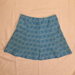 Vintage Diamond Knit Turquoise Retro Circle Skirt